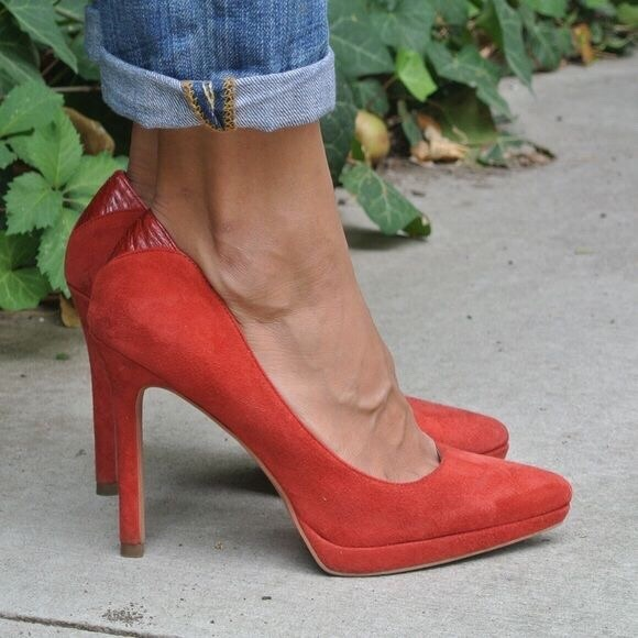 7aaa7eb23649f1 Sam Edelman Red Suede Celia Pointed Pump